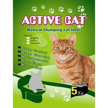 Cementējošās smiltis kaķu tualetei Active Cat Natural Clumping 5kg