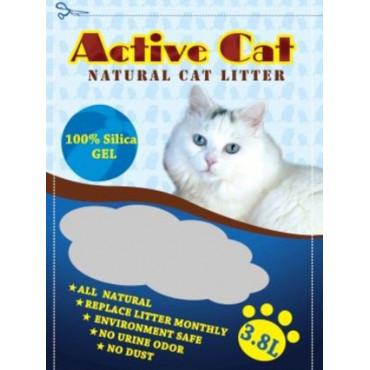 Silikagēla kaķu pakaiši Active Cat 3 8 l