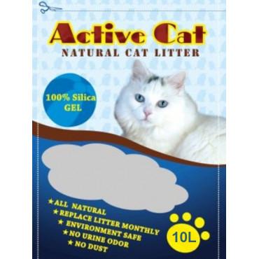 Silikagēla kaķu pakaiši Active Cat 10 l