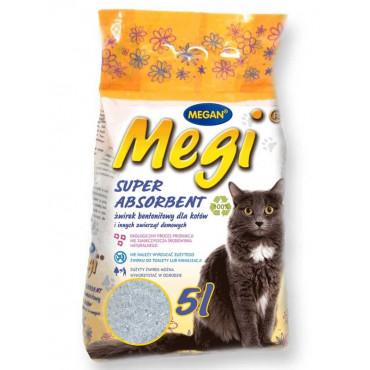 Cementejošās smiltis kaķu tualetēm Megi Super Absorbent 5 l