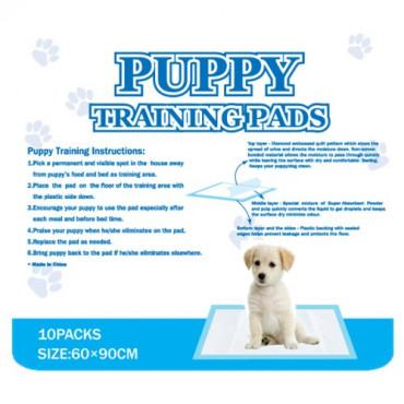Super absorbējošas antibakteriālas autiņi Puppy Training Pads kucēniem kaķēniem un citiem dzīvniekiem 60x90cm 10gab