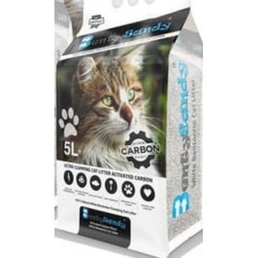 Cementējošās smiltis kaķu tualetei BENTYSANDY activated carbon 5l