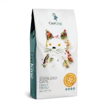 Sausā barība pieaugušiem sterilizētiem kaķiem CooKing GRAIN FREE STERILIZED RECIPE DAILY MENU 2 kg