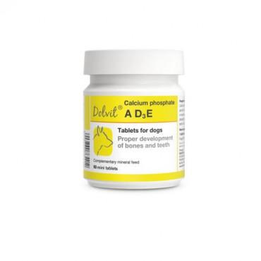 Minerālu papildbarība suņiem Dolfos Dolvit Calcium phosphate ADзE vitamīnu un minerālvielu preparāts kalcija fosfāts ADзE 90 mini tab