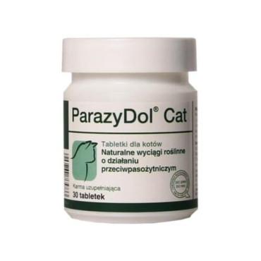 Minerālu papildbarība kaķiem Dolfos ParazyDol Cat dabiskā attārpošana 30 tab