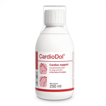 Papildbarība suņiem un kaķiem Dolfos CardioDol atbalsta sirds darbību 250 ml