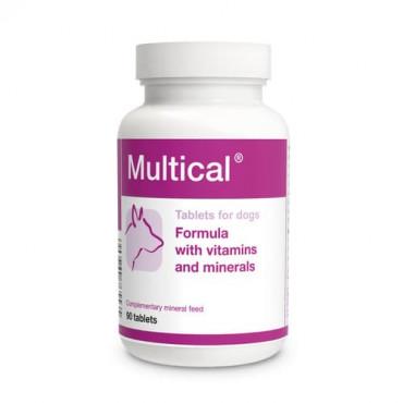 Minerālu papildbarība suņiem Dolfos Multical vitamīnu un minerālvielu preparāts 90 tab