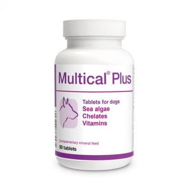 Minerālu papildbarība suņiem Dolfos Multical Plus jūraszāles, helāti, vitamīni 90 tab