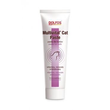 Papildbarība kaķiem Dolfos Multivital Cat Paste vitamīni, minerālvielas, aminoskābes, paste 100 g