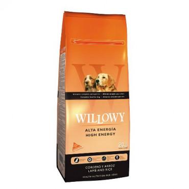 Sausā barība pieaugušiem suņiem Willowy High Energy ar jēru un rīsiem 20 kg
