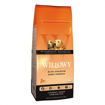 Sausā barība pieaugušiem suņiem Willowy High Energy ar jēru un rīsiem 4 kg