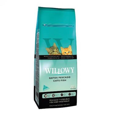 Sausā barība pieaugušiem kaķiem Willowy Fish ar zivīm 20 kg