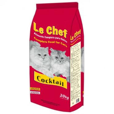 Sausā barība pieaugušiem kaķiem Le Chef Coctail ar vistu 20 kg