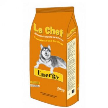 Sausā barība pieaugušiem suņiem LE CHEF Energy ar jera gaļu un rīsiem 20 kg