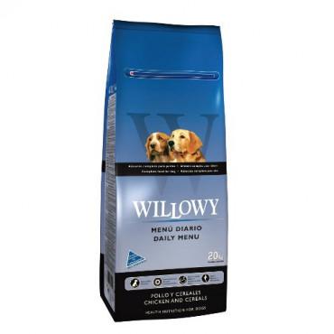 Sausā barība pieaugušiem suņiem Willowy Daily Menu ar vistu un graudaugiem 20 kg
