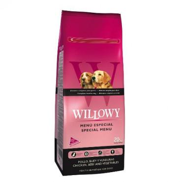 Sausā barība pieaugušiem suņiem Willowy Special Menu ar vistu, liellopa gaļu un dārzeņiem 20 kg