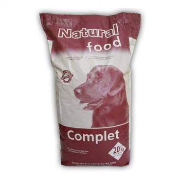 Sausā barība pieaugušiem suņiem Natural Food Complete gaļa, vista, zivis, graudaugi 20 kg