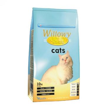 Sausā barība pieaugušiem kaķiem Willowy GOLD PREMIUM ar vistu un lasi 10 kg