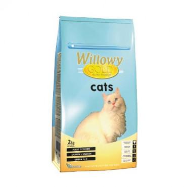 Sausā barība pieaugušiem kaķiem Willowy GOLD PREMIUM ar vistu un lasi 2 kg