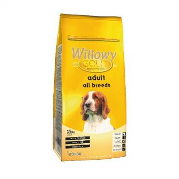 Sausā barība visu šķirņu pieaugušiem suņiem Willowy GOLD PREMIUM All Breeds ar vistu un rīsiem 15 kg