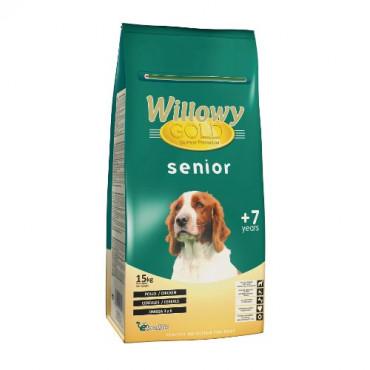 Sausā senioru suņiem Willowy GOLD PREMIUM Senior ar vistu un graudaugiem 15 kg