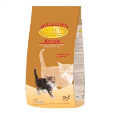Sausā barība kaķēniem Willowy GOLD PREMIUM Kitten vistas gaļa, zivis, graudaugi 10 kg