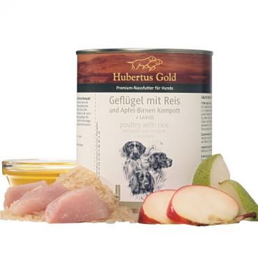 Konservi suņiem Hubertus Gold Poultry & Rice ar mājputniem un rīsiem 800 g