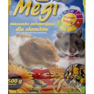 Grauzēju barība Megi kāmijem 500g