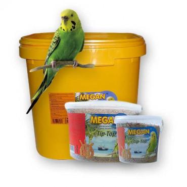 Pilnvērtīga pamatbarība maziem papagaiļiem Megan 1 l / 770 g