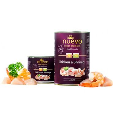 Konservi kaķiem nuevo Adult Chicken & Shrimps ar vistu un garnelēm 400 g