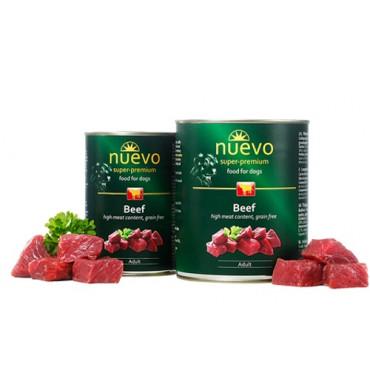 Konservi suņiem Nuevo Super Premium Beef ar liellopa gaļu 400 g