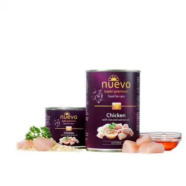 Konservi kaķēniem nuevo Kitten Chicken & Salmon oil ar vistas un laša eļļu 200 g