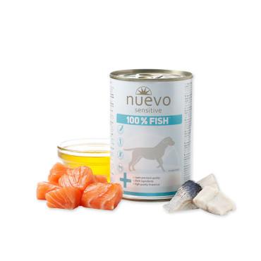 Konservi suņiem Nuevo Sensitive 100% Fish no svaigām zivīm 400 g
