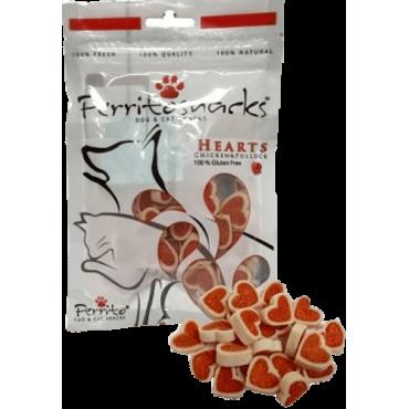 Gārdums kaķiem un suņiem PERRITOSNACKS chicken hearts, vistas gaļa 50g