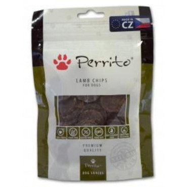 Gārdums suņiem PERRITOSNACKS Lamb Chips ar jera gaļu 100 gr.